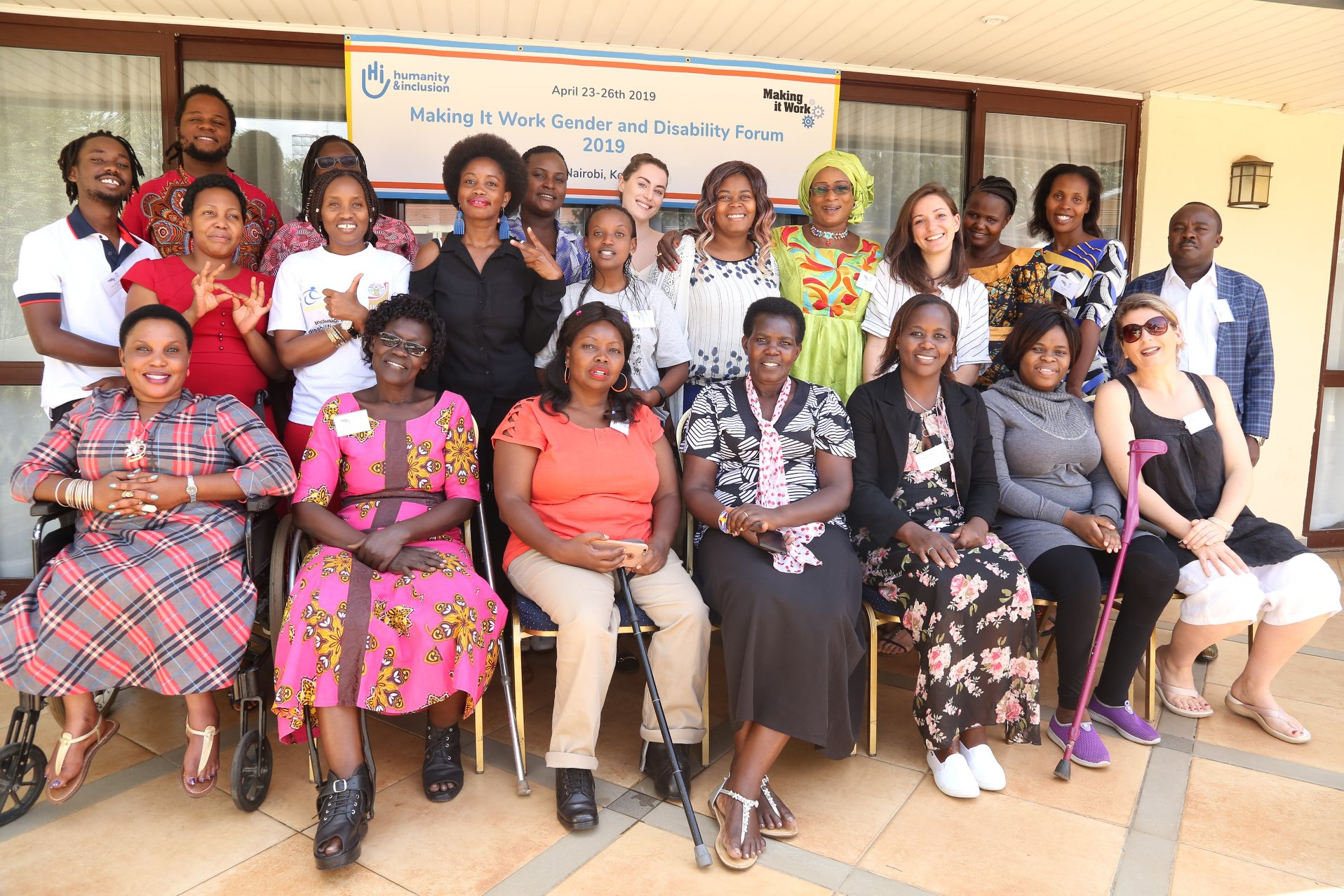 Group photo of the participants of the third making it work gender and disability forum in Nairobi 2019
