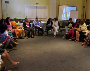 Discussing violence against women with disabilities at the AWID Forum