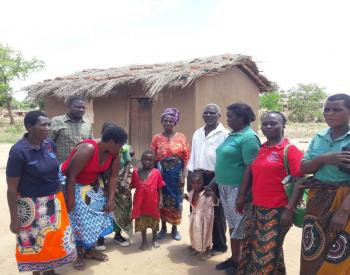 VIHEMA beneficiaries and team member Martha in Malawi