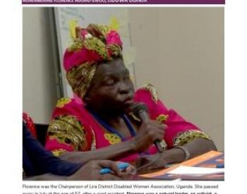 Florence Adong-Ewoo, Chair person of LIDDWA Uganda
