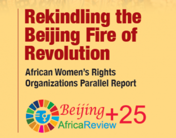 Rekindling the fire of revolution, title with the Beijing+25 logo